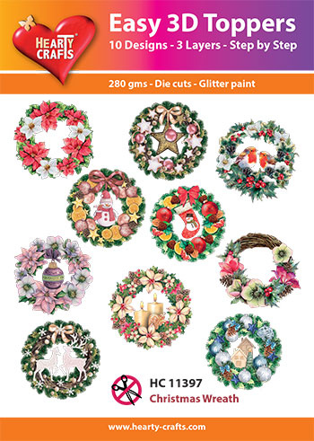 Hearty Crafts Easy 3D-Toppers Christmas Wreath