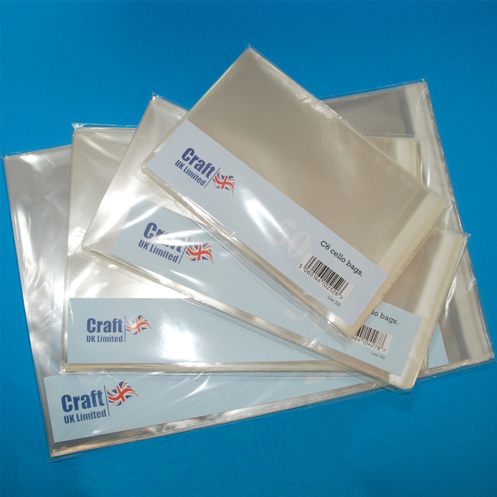 Craft UK Limited LINE 1068. 50 – 7×7 CELLO BAGS
