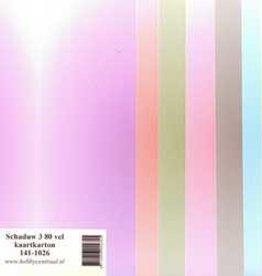 Hobbycentraal Shadow 3 80 feuilles de papier cartonné 141-1026