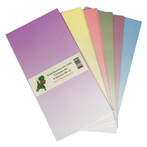 Hobbycentraal Carton 141-1028 carré DL 6 couleurs 60 feuilles