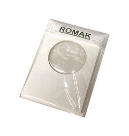 Romak Romak kaart met bolvenster en enveloppen