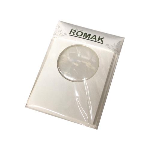 Romak Carte Romak avec globe terrestre et enveloppes