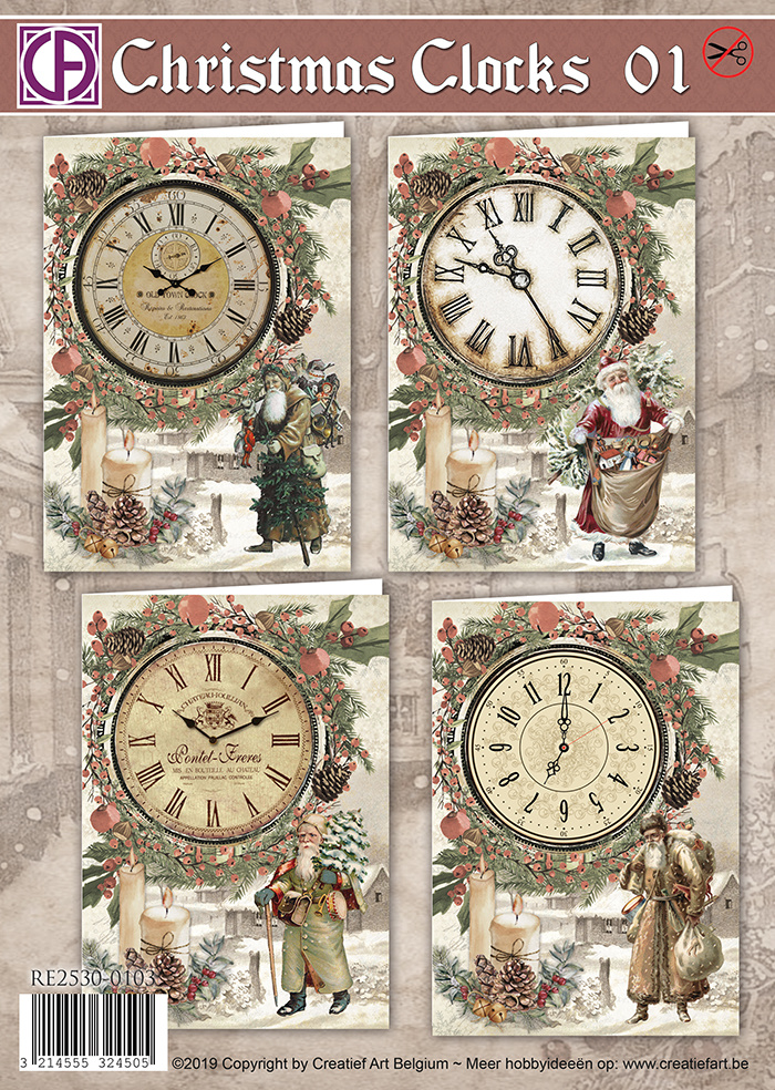 Creatief Art Christmas Clocks 01