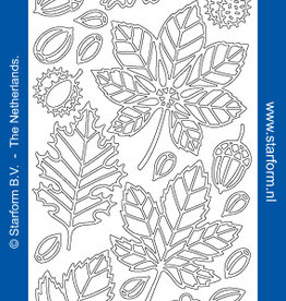Outline sticker leaves silver