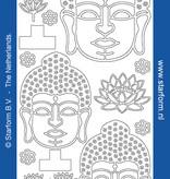 Starform Buda Silber Aufkleber