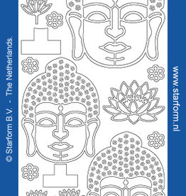 Starform Buda silver sticker