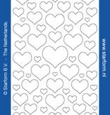 Starform Sticker Herzen geschlossen Gold