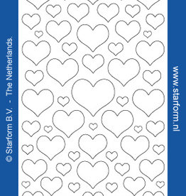 Starform Sticker harten dicht goud