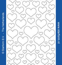Starform Sticker hearts closed silver