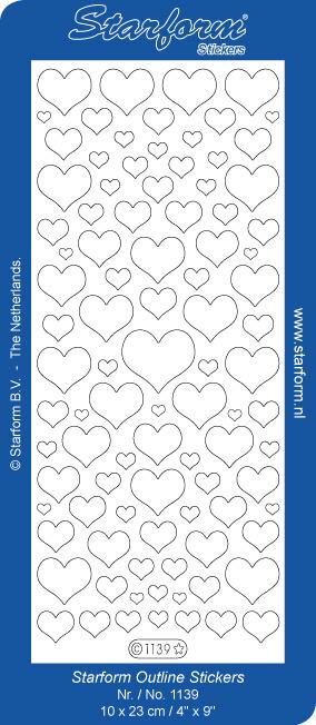 Starform Sticker harten dicht zilver