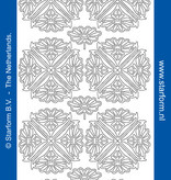 Starform Sticker bloem ornament zilver