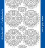 Starform Sticker ornement de fleurs argent