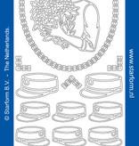 Starform Sticker hoed en petten zilver