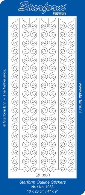 Starform Sticker rand golf zilver