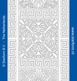 Starform Sticker outline ornament zilver