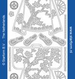 Starform Sticker outline Oosters zilver