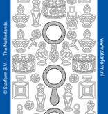 Starform Sticker outline flesjes zilver
