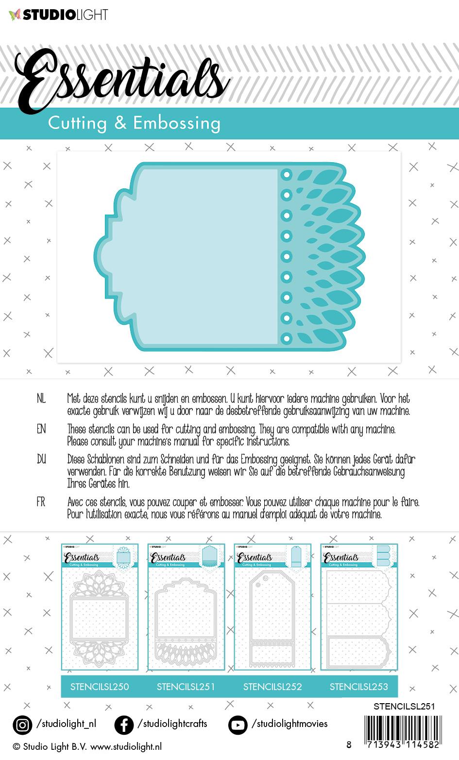 Studiolight Embossing Die Cut Essentials nr.251
