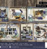 Studiolight Stansblok A5 Content 12 Sheets Die Cut, Denim Saturdays nr.27