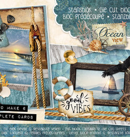 Studiolight Stansblok A5 Content 12 Sheets Die Cut, Ocean View nr.28