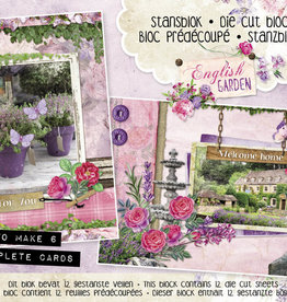 Studiolight Stansblok A5 Content 12 Sheets Die Cut, English Garden nr.29
