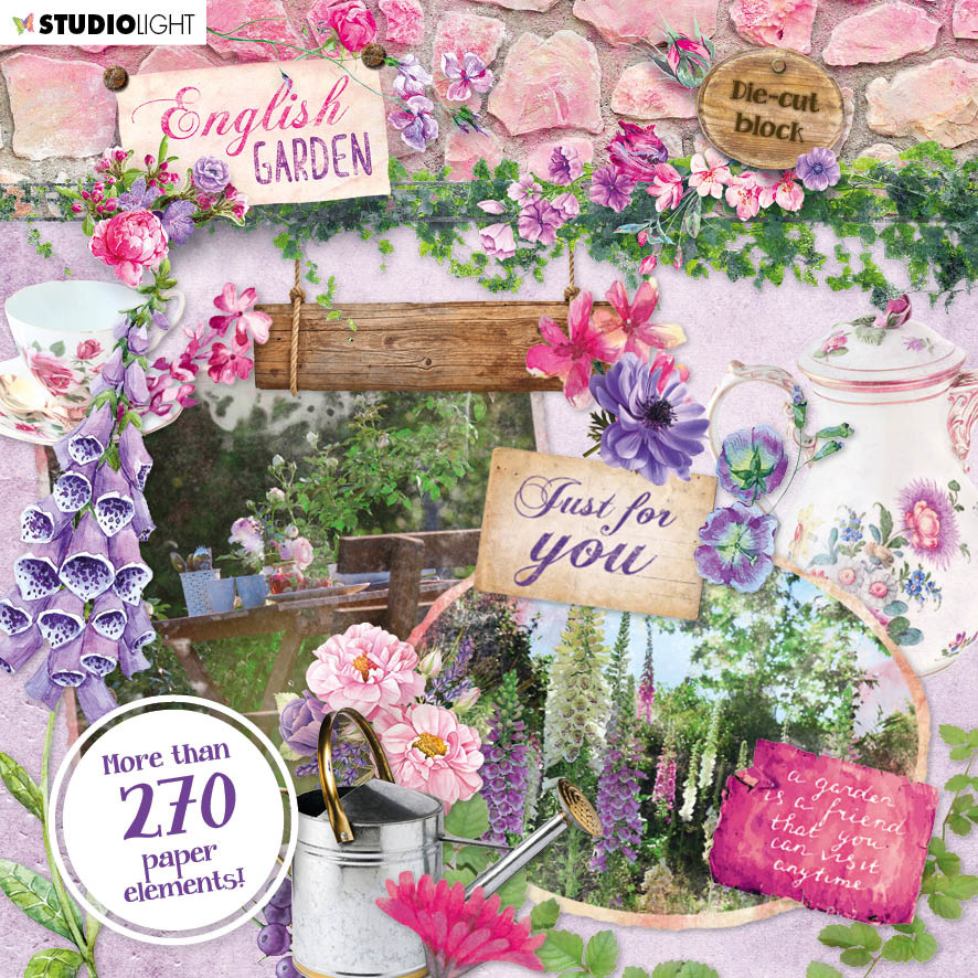 Studiolight Die Cut Book 15x15 English Garden nr.659