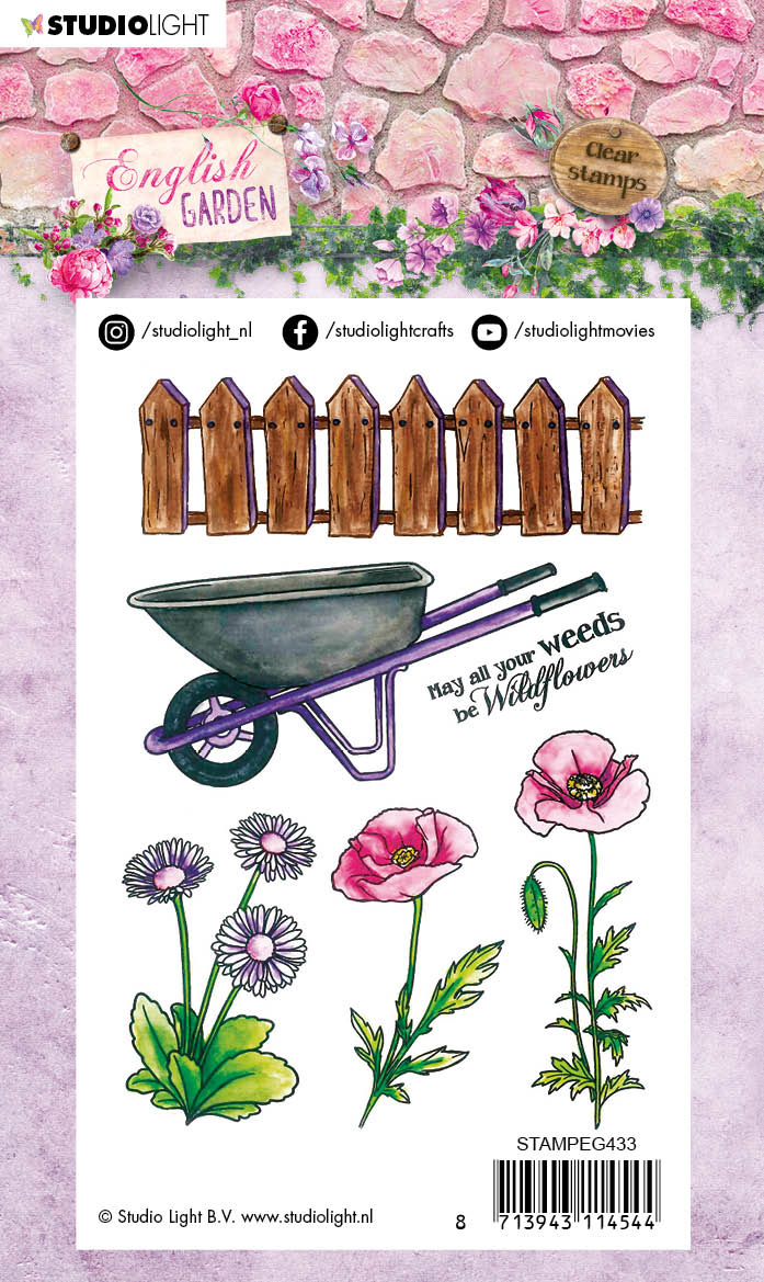 Studiolight Stamp (1) A6, English Garden nr.433