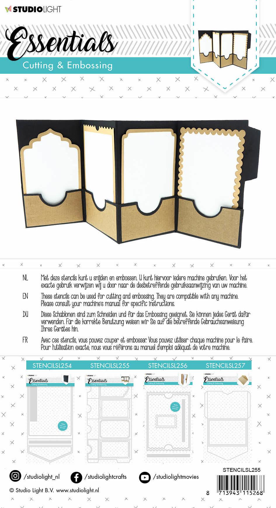 Studiolight Embossing Die Cut Essentials nr.255