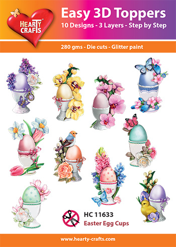 Hearty Crafts Easy 3D-Toppers Easter Egg Cups