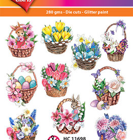 Hearty Crafts Easy 3D-Toppers Spring Baskets