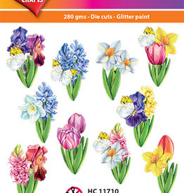 Hearty Crafts Easy 3D-Toppers Flowers in Spring