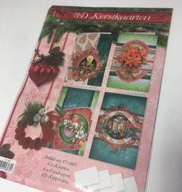 3D knip pakket Kerstkaarten 171-002