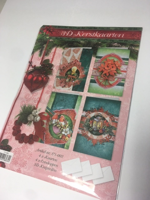 3D clipping package Christmas cards 171-002