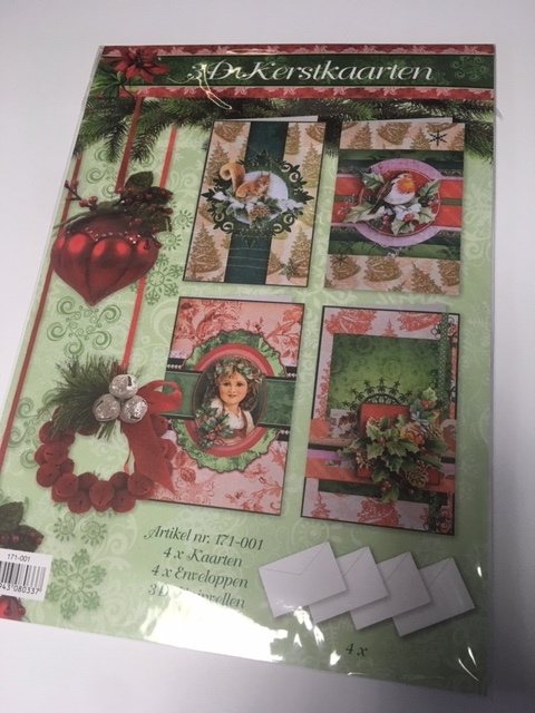 Paquet d'écrêtage 3D cartes de Noël 171-001