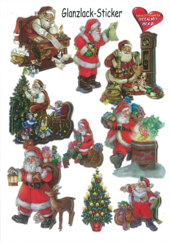 Ideen mit Herz Glanssticker kerst