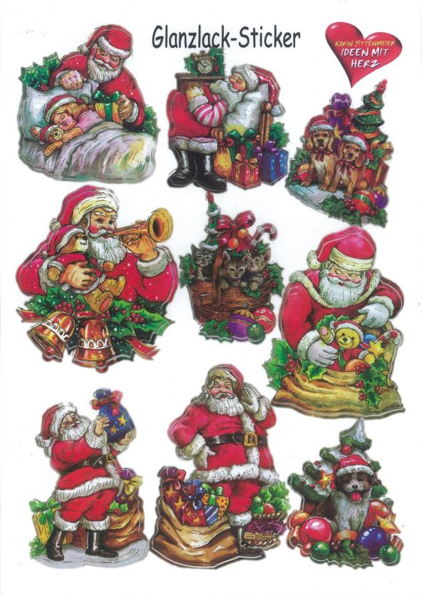 Ideen mit Herz Weihnachtsglatter Aufkleber