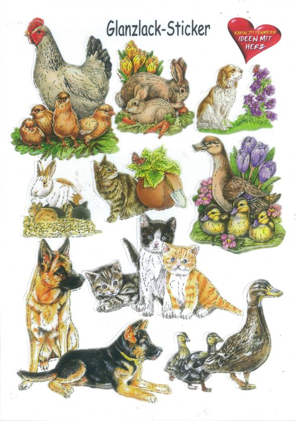 Ideen mit Herz Glanssticker dieren