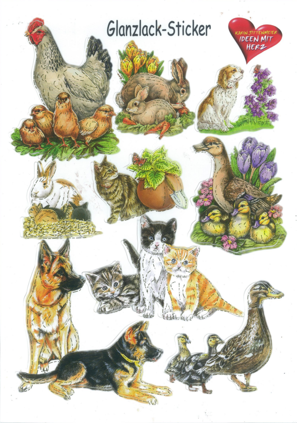 Ideen mit Herz Gloss sticker animals