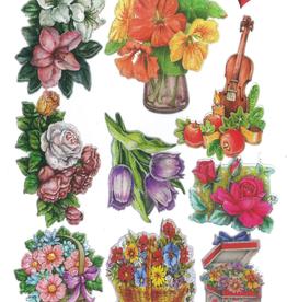 Ideen mit Herz Glanssticker bloemen