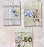 Creatief Art Cartes en bois 02 - Fleurs