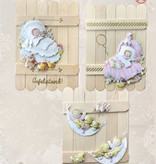Creatief Art Cartes en bois 03 - Bébé