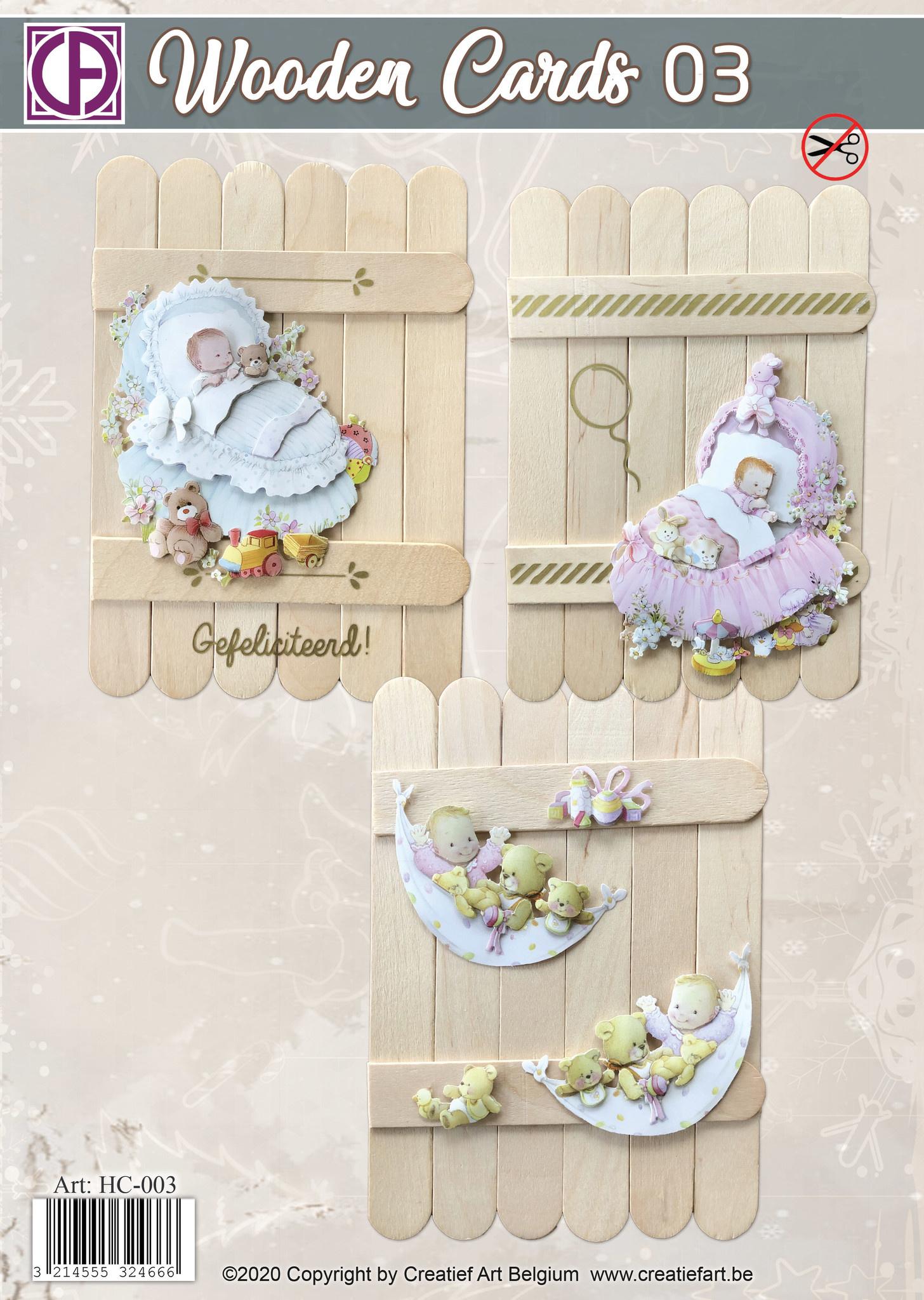 Creatief Art Wooden Cards 03 - Baby