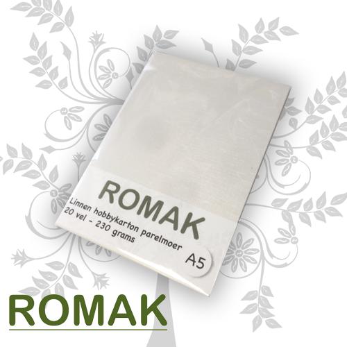 Romak Linen cardboard mother-of-pearl