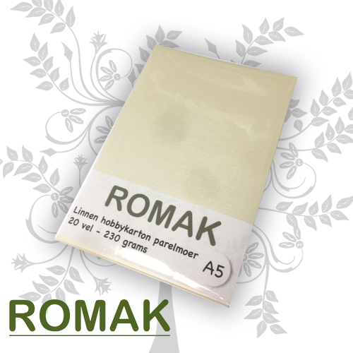 Romak Linen cardboard mother-of-pearl