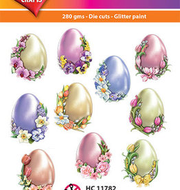 Hearty Crafts Easy 3D-Toppers - Easter Eggs with Flowers