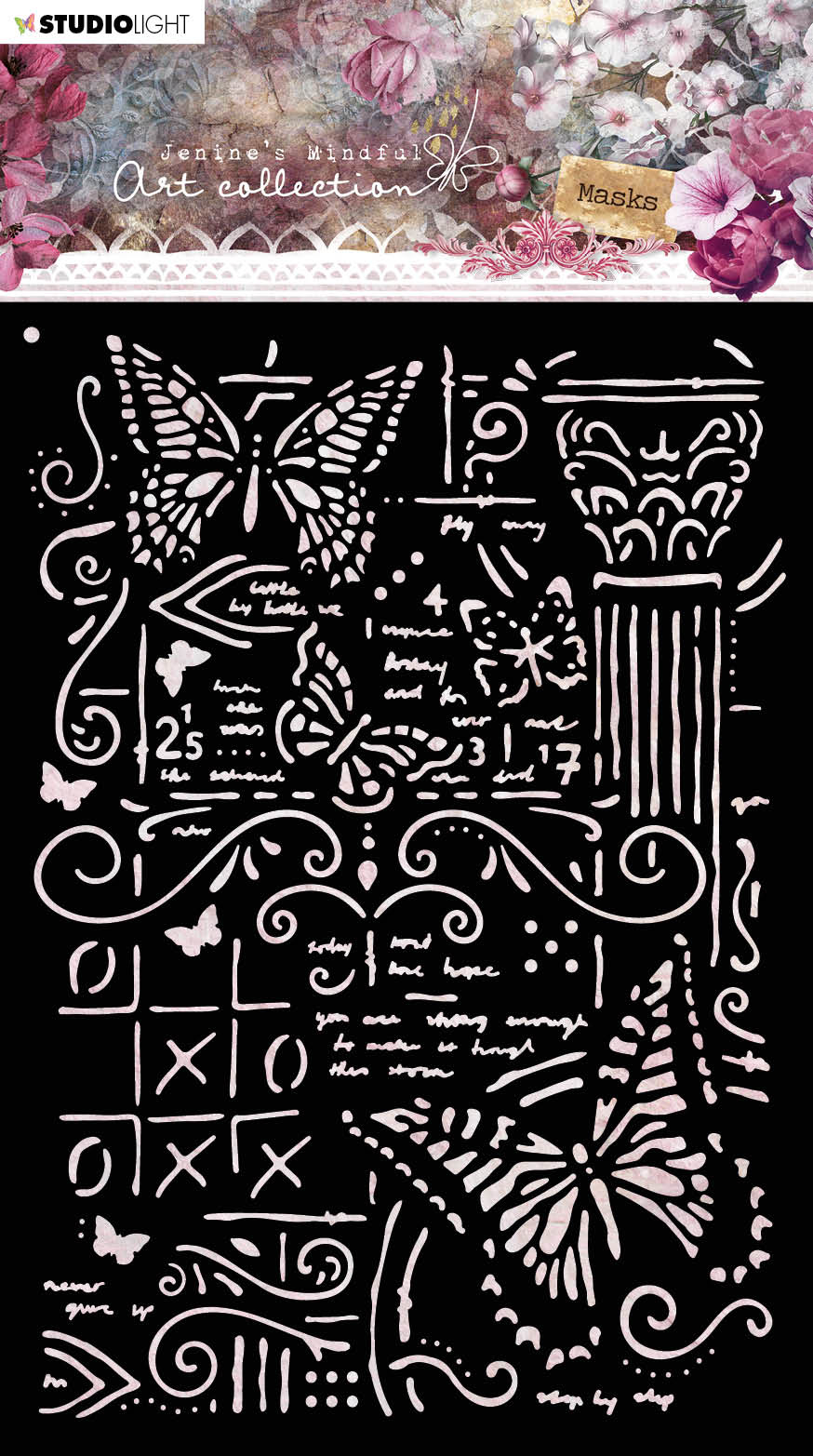 Studiolight Mask Stencil (1) A5 Jenine's Mindful Art 3.0 nr.06