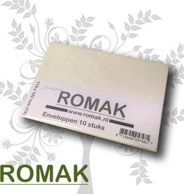 Romak Romak envelopes C6 cream - packed per 10