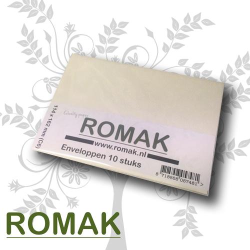 Romak Romak enveloppen C6 creme - per 10 verpakt