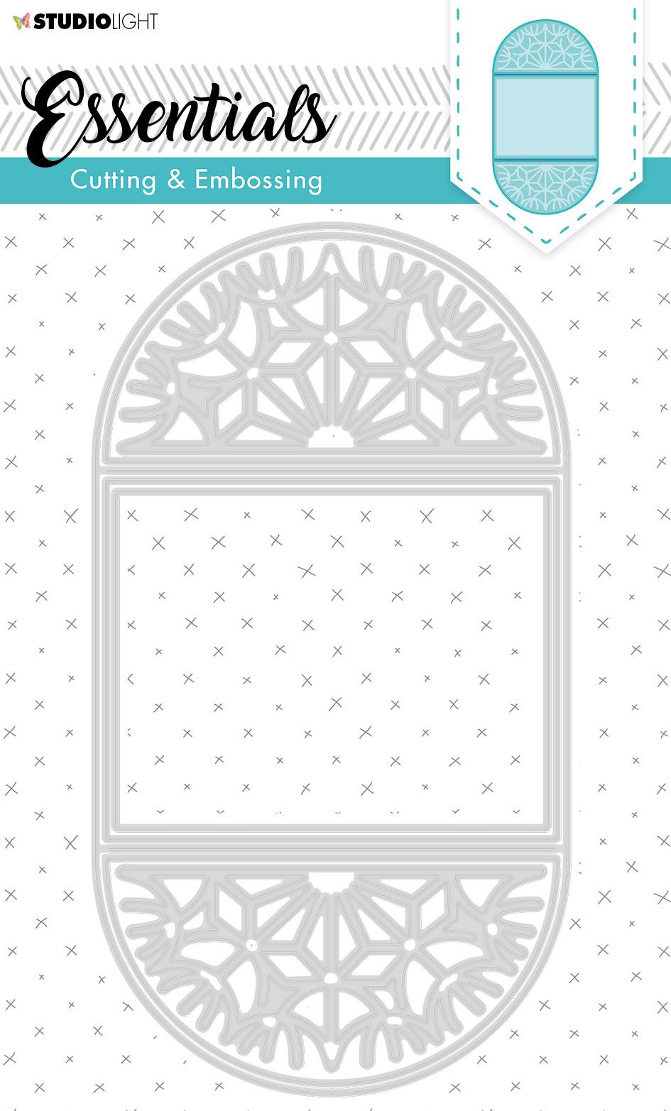 Studiolight SL Cutting & Embossing Die Card Shape Essentials 209x114mm nr.298