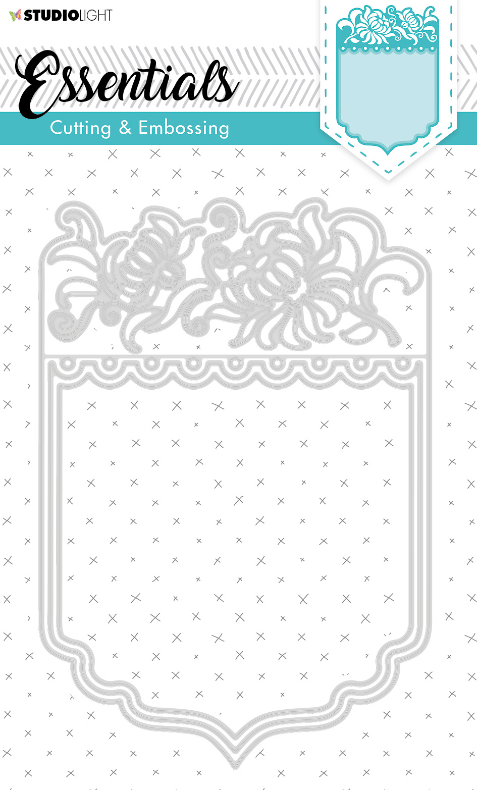 Studiolight SL Cutting & Embossing Die Card Shape Essentials 192x132mm nr.300